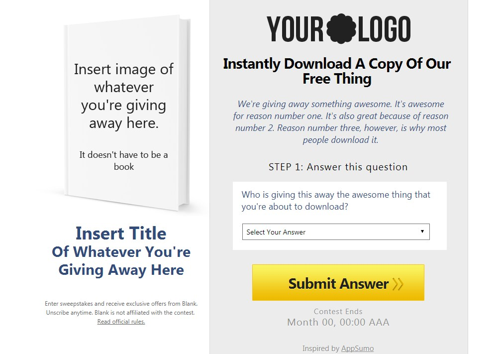 free landing page templates for wordpress - sumo landing page for affiliates free download